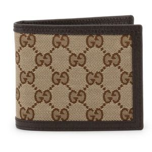 Gucci Mens GG Guccissima Bifold Wallet Card Case